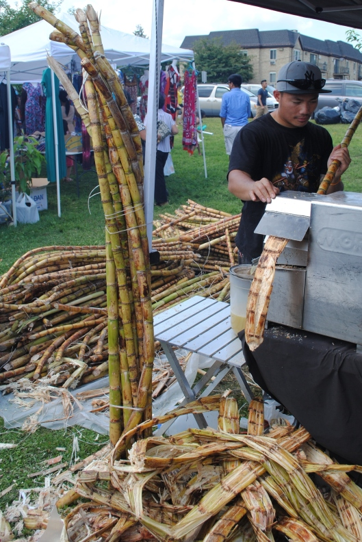 extracting sugar cane juice