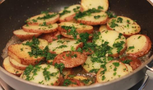 parslied new potatoes